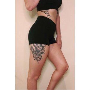 Black yoga shorts